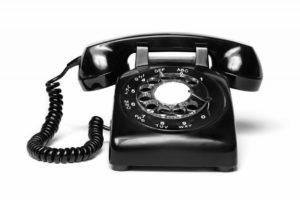 rotary black phone